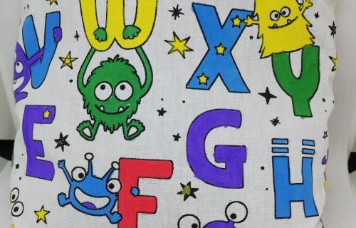 Kit enfant (+ 6 ans) ''Coussin doudou-dodo'' Fleurs de Lavande