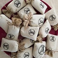 Sachets de lavande de Provence personnalisés pour Louis Vuitton Event