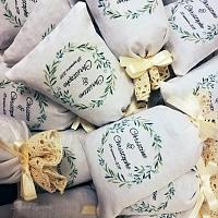 Sachet de lavande cadeau d'invité mariage