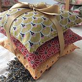 3 Coussins remplis de fleurs de lavande de Provence