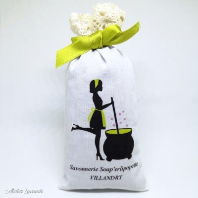 Sachets de lavande, impression personnalisée Savonnerie Soap'erlipopette