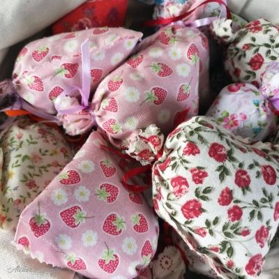 Minis sachets de lavande à motif Floral