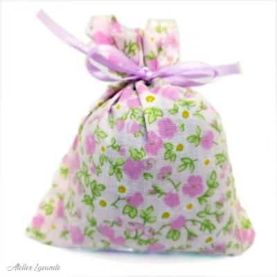 Sachet de lavande déco motif fleuri Charlotte