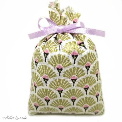 Sachet de lavande de Provence avec tissus imprimé, motif japonais Mineko