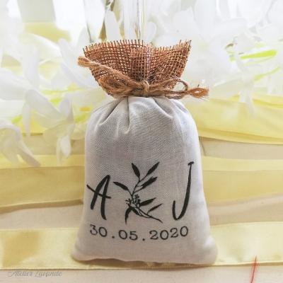 Sachets de lavande pour cadeau d'invité mariage