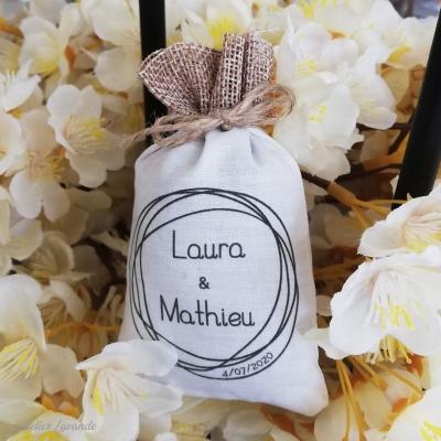 Sachet de lavande pour cadeau d'invité mariage