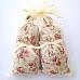 4  Sachets de lavande de Provence avec tissus imprimé motif floral avec des roses